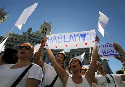 manifestación Podemos hablemos