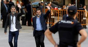 Cuixart y Sánchez en la Audiencia Nacional