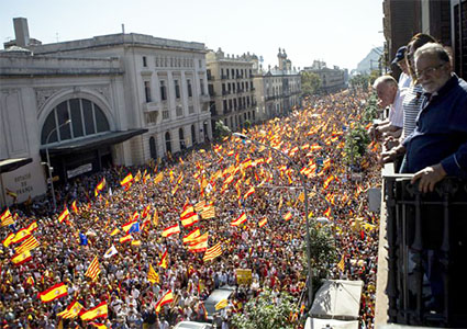 Manifestación Unidad de España en Barcelona