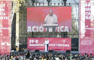 manifestación Unidad de España Paco Frutos