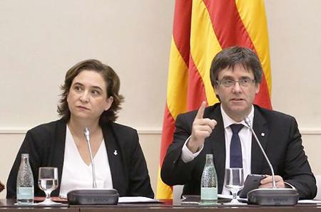 Ada Colau y Puigdemont
