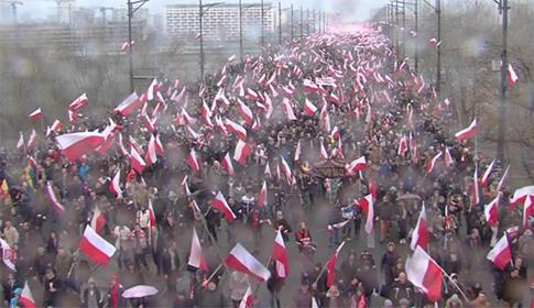 manifestación patriota Polonia