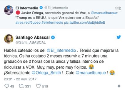 Twitter Abascal La Sexta
