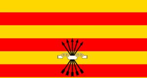 Bandera Catalana Yugo y Flechas