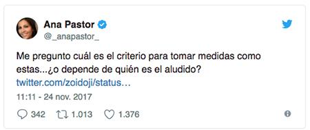 Twitter Ana Pastor