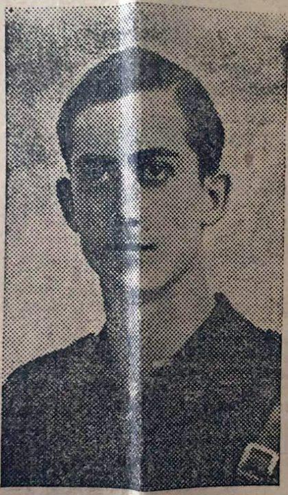 Militante de Falange Española, Enrique Roig Roca