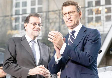 Feijoo y Mariano Rajoy elecciones en Cataluña