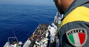 La inmigración en Italia. Llegada de inmigrantes.