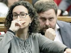 Junqueras y Marta Rovira