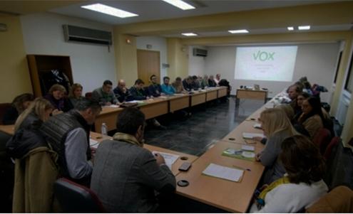Reunión de VOX en Madrid con Santiago Abascal