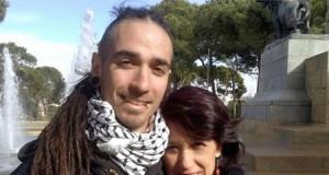 Rodrigo Lanza y su madre