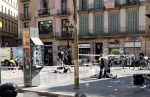 Atentado terrorista en la Rambla de Barcelona. Heridos tras el atentado terrorista en la Rambla de Barcelona