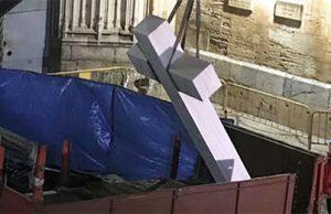 Falangistas atacados y agredidos por defender la Cruz de Callosa del Segura en Alicante