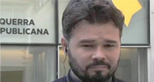 El careto de Gabriel Rufián en Espejo Público