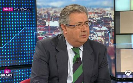 El Ministro Juan Ignacio Zoido habla sobre Carles Puigdemont en Espejo Público de Antena 3