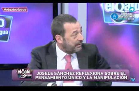 Director de La Tribuna de Cartagena, Josele Sánchez, en una intervención en la televisión