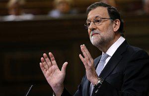 El Presidente del Gobierno de España, Mariano Rajoy, en el Congreso de los Diputados