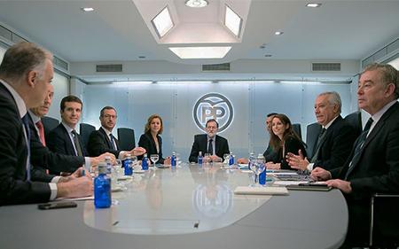 Comite de Dirección del PP presidido por Mariano Rajoy