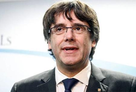 Puigdemont en una rueda de prensa en Bruselas