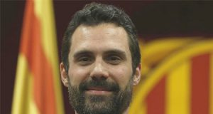 Roger Torrent Presidente en el Parlament de Cataluña