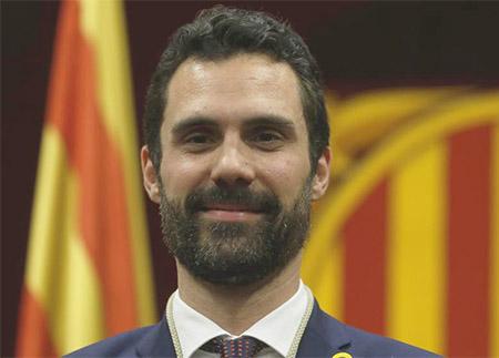 Roger Torrent Presidente en el Parlament de Cataluña