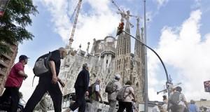 la Sagrada Familia de barcelona blindada por posibles atentados islamistas