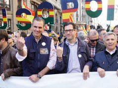 VOX se manifiesta junto guardias civiles y policías