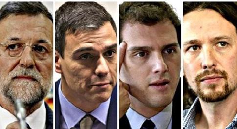 La mafia de los partidos políticos. Rajoy, Sánchez, Rivera e Iglesias