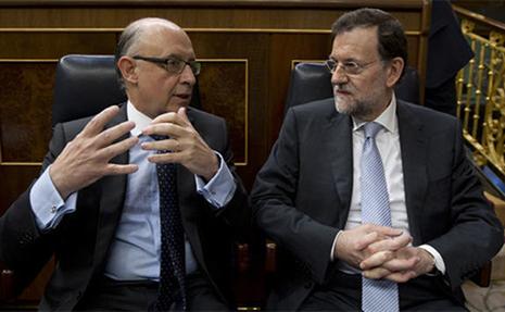 Mariano Rajoy y Montoro en el Congreso de los Diputados