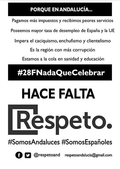 Cartel Respeto Andalucía sobre el modelo autonómico