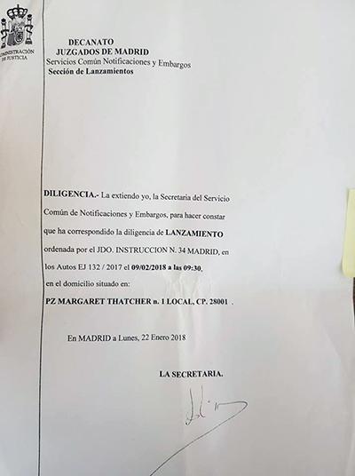 Desalojo Hogar Social Madrid
