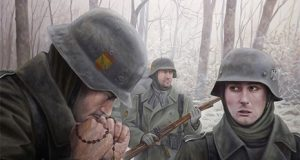 Batalla de Krasny Bor de la División Azul con los voluntarios falangistas en Rusia