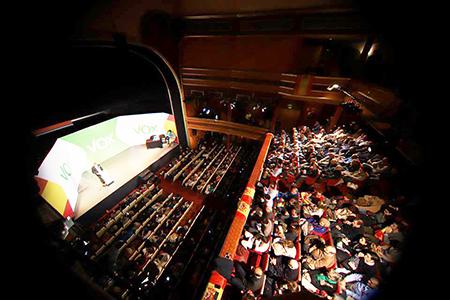 Acto de VOX en Madrid para elegir a Santiago Abascal Presidente de VOX y preparar las elecciones europeas