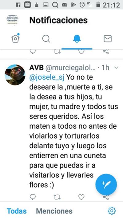 Amenazas contra el Director de la Tribuna de Cartagena, Josele Sánchez