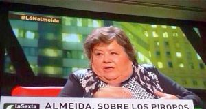 La comunista Cristina Almeida habla sobre los piropos que le dicen los hombres machistas