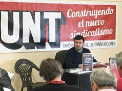 Jorge Garrido San Román, presidente del sindicato Unión Nacional de Trabajadores (UNT)