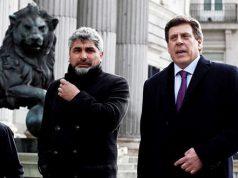 Juan José Cortes y Juan Carlos Quer en el Congreso de los Diputados
