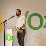 Santiago Abascal en el Acto Nacional de VOX tras ser elegido por tercera vez Presidente de VOX