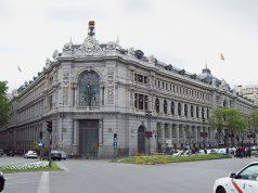 Banco de España. Edificio del banco de España en la ciudad de Madrid