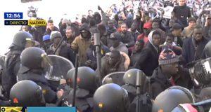 inmigrantes senegaleses toman de forma violenta las calles de Madrid