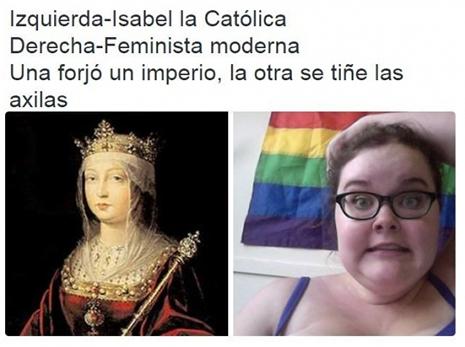 Isabel la Católica contra las feministas