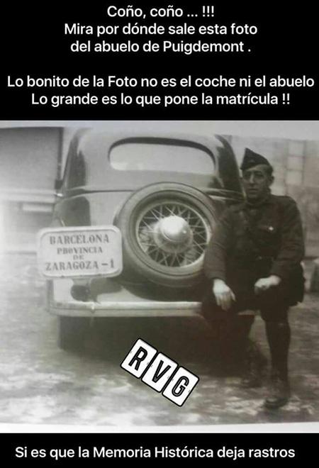Francisco Puigdemont, el abuelo de Carles Puigdemont. Matricula coche Puigdemont