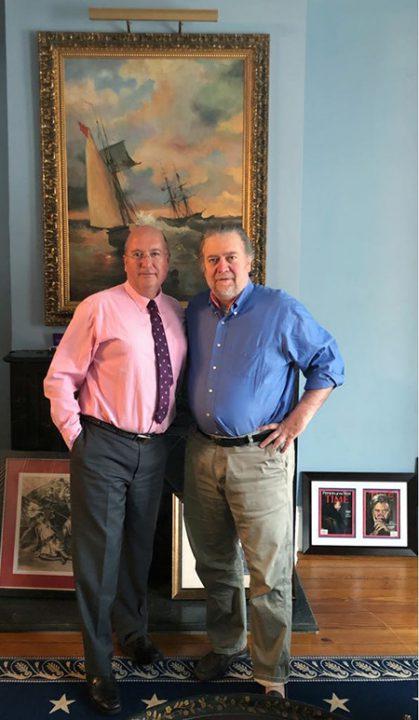 Rafael Bardají y Stephen Bannon la pasada semana en Washington