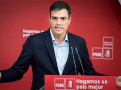 Pedro Sánchez en un mitin del PSOE pidiendo y proponiendo una subida de impuestos