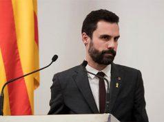 Roger Torrent en el Parlament de Cataluña