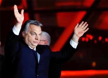 Viktor Orban, primer ministro de Hungría, en un acto político