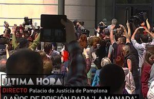 Las feministas pretenden tomar el palacio de justicia de Navarra