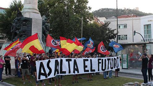 asociacion iberia cruor pancarta asalta el futuro