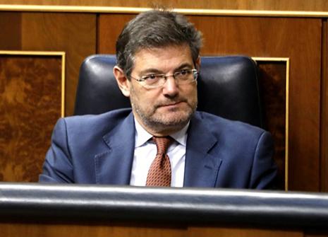 Ministro de Justicia Rafael Catalá en el Congreso de los Diputados