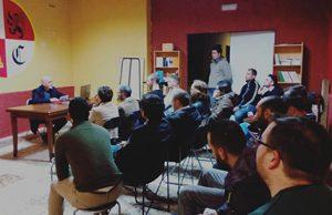 Militantes en la sede de Iberia Cruor en un acto de la asociación en Jaén